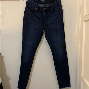 Lucky brand dark wash skinny jeans, size 10 (30w)